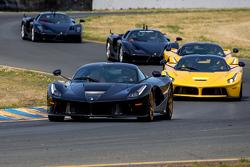 Ferrari parade laps