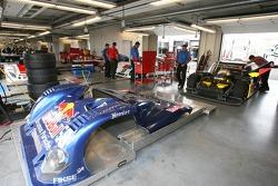 Brumos Racing garage area