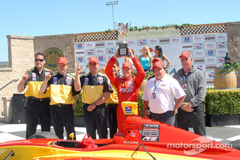 Victory lane: Alex Lloyd, Gary Peterson and AFS Racing team