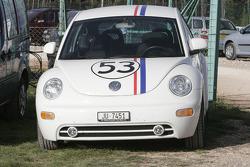A Volkswagen New Beetle