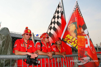 Fans of Michael Schumacher