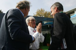 Angelo Codignoni, Eurosport president and CEO, Bernie Ecclestone, Marcello Lotti, General Manager of KSO