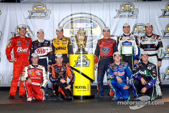 The Chase for the NASCAR Nextel Cup drivers for 2006: Dale Earnhardt Jr., Mark Martin, Matt Kenseth, Jeff Gordon, Jimmie Johnson, Kevin Harvick, Kasey Kahne, Jeff Burton, Kyle Busch and Denny Hamlin