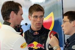Dhief engineer Paul Monaghan, Michael Ammermueller and a crew member