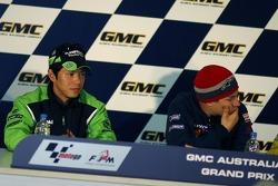 Press conference: pole winner Nicky Hayden with Shinya Nakano