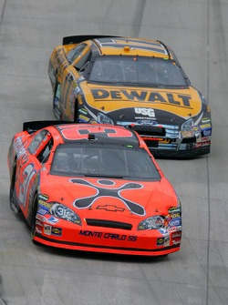 Jeff Burton leads Matt Kenseth