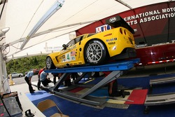 Corvette Racing Corvette C6-R at technical inspection