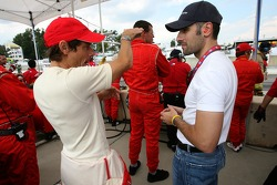 Anthony Lazzaro and Dario Franchitti