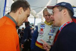 Max Angelelli and Jorg Bergmeister speak with Gary Watkins