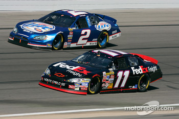 Denny Hamlin and Kurt Busch