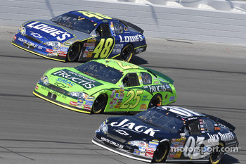 Jimmie Johnson, Brian Vickers and Clint Bowyer