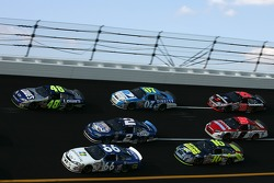 Jimmie Johnson, Kurt Busch and Jeff Green battle