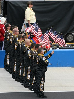 U.S. Army Chevy crew during National Anthem
