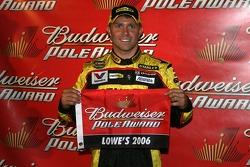 Pole winner Scott Riggs celebrates