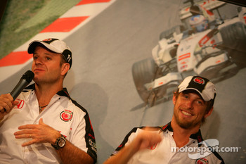 Lucky Strike PR day: Rubens Barrichello and Jenson Button