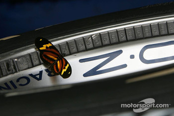 A butterfly on an O.Z racing Williams F1 Team wheel