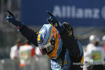 2006 F1 World Champion Fernando Alonso celebrates