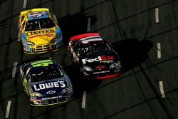 Jimmie Johnson, Denny Hamlin and Bobby Labonte