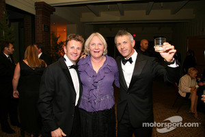 Allan McNish, Nancy Schilke and Rinaldo Capello