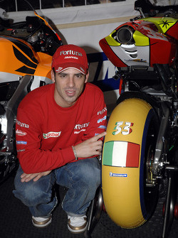 Marco Melandri and a special Michelin tire