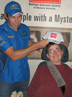 Chris Atkinson at the Multiple Sclerosis Society care facility in Perth