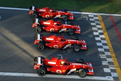 Felipe Massa, Michael Schumacher, Marc Gene and Luca Badoer