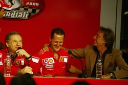 Press conference: Jean Todt, Michael Schumacher and Luca di Montezemolo