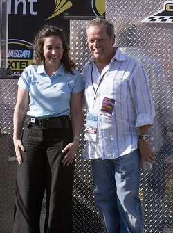 Wolfgang Puck with California Speedway President Gillian Zucker