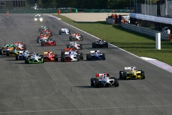 Race start: James Hinchcliffe leads Alex Yoong