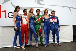 Top 3 finishers of race 1: Adrian Zaugg, Salvador Duranand Nicolas Lapierre
