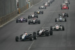 Pace lap: Kamui Kobayashi leads the field