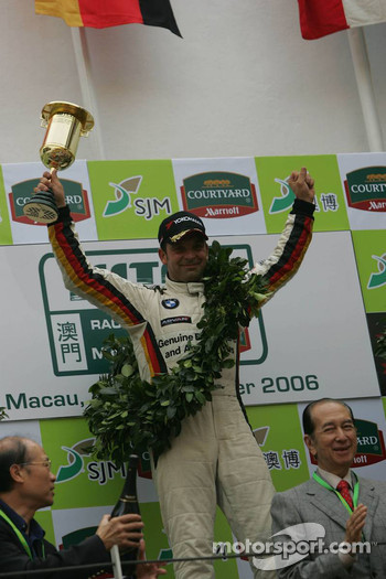Podium: race winner Jorg Muller