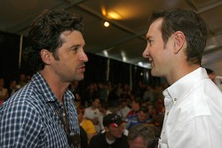 Kurt Busch talks with Patrick Dempsey