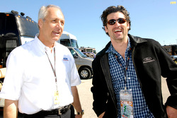 Dan Davis chats with Patrick Dempsey at the Ford Championship Weekend