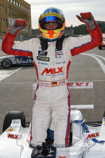 Race winner Christian Vietoris celebrates