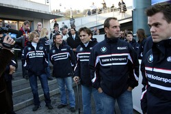Sebastian Vettel, Andy Priaulx, Alex Zanardi, Jorg Muller and Dirk Muller