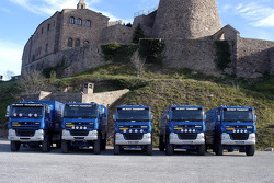 Team de Rooy presentation: the GINAF X2222 rally trucks, DAF CF85 FAZ6x6 service truck and DAF CF75 FAV4x4 service truck