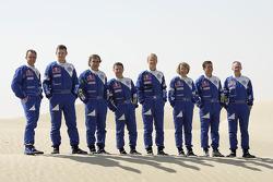 Volkswagen Motorsport presentation in Dubai: Giniel de Villiers, Dirk von Zitzewitz, Carlos Sainz, Michel Perin, Ari Vatanen, Fabrizia Pons, Mark Miller, Ralph Pitchford