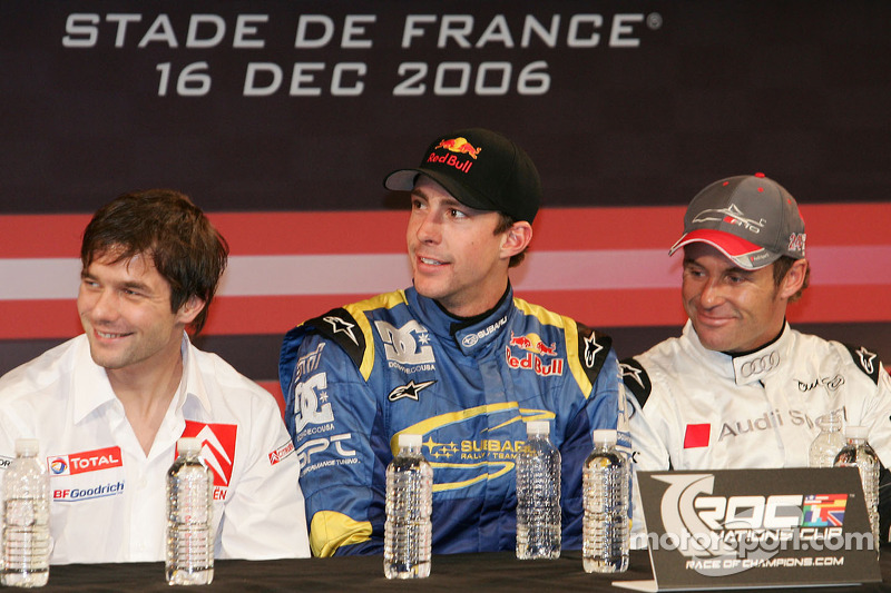 Sébastien Loeb, Travis Pastrana and Tom Kristensen