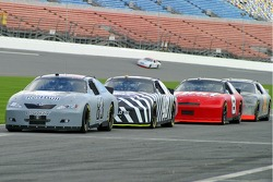 Brian Vickers, Jimmie Johnson and Dale Earnhardt Jr.