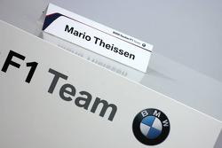 Card of Dr. Mario Theissen, BMW Motorsport Director