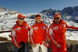 Casey Stoner, Loris Capirossi and Vittoriano Guareschi