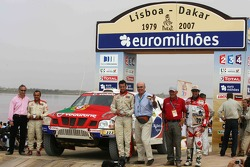 Car category podium: Miguel Barbosa and Miguel Ramalho
