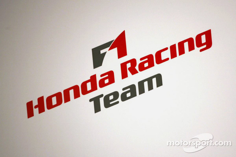 Honda F1 Racing Team Logo At Honda Ra107 Launch