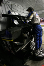 Lowe's Riley-Matthews Motorsports crew member at work