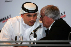 H. E. Khaldoon Al Muharak Abu Dhabi Executive Affairs Authority and Bernie Ecclestone