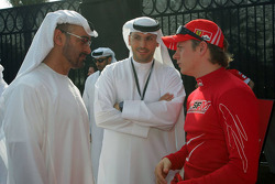Kimi Raikkonen with Sheikh Mohammed bin Zayed al Nahayan and H. E. Khaldoon Al Muharak Abu Dhabi Executive Affairs Authority