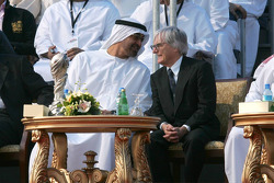 His Highness Sheikh Mohammed Bin Zayed Al Nahayan with Bernie Ecclestone