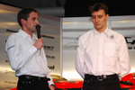Christijan Albers and James Key, Spyker F1 Team, Technical Director