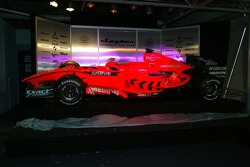 The 2007 Spyker-Ferrari F8-VII is unveiled